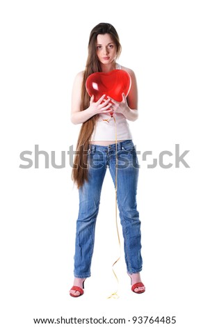 Woman with heart in hand