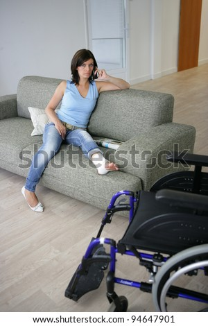 Her Full Leg Cast http://www.shutterstock.com/pic-94647901/stock-photo-woman-with-her-leg-in-a-cast.html