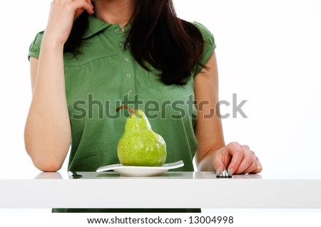 woman with knife and fork on diet