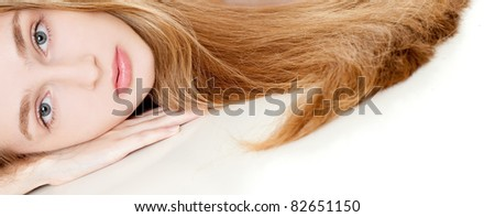 woman with long beauty hair
