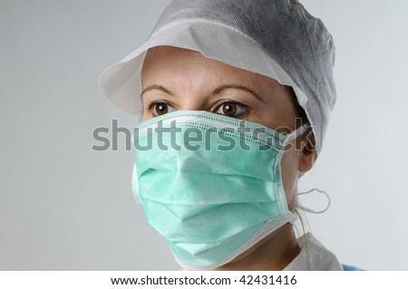 woman with mask protection