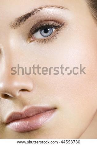 Woman with perfect natural makeup