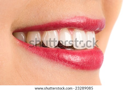 Woman with perfect teeth and a beautiful smile.