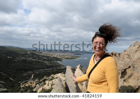 Woman with sea view