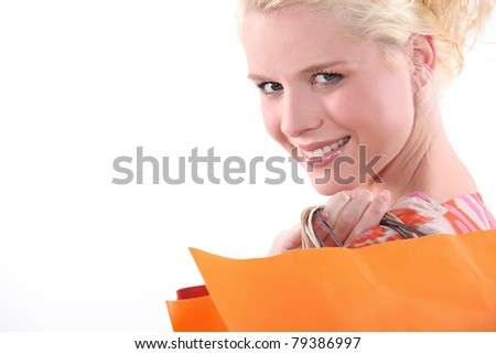 Woman with shopping bags