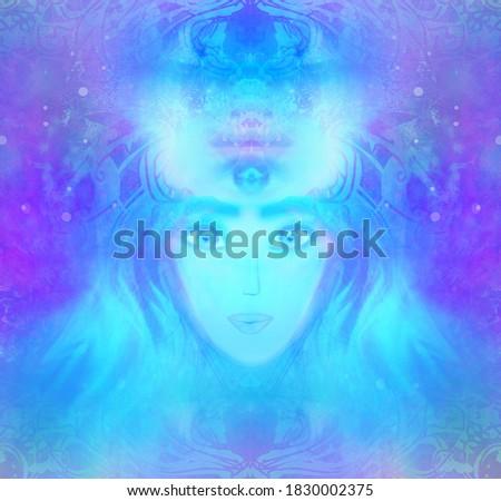 Woman with third eye, psychic supernatural senses Stock photo ©