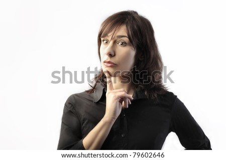 Woman with thoughtful expression