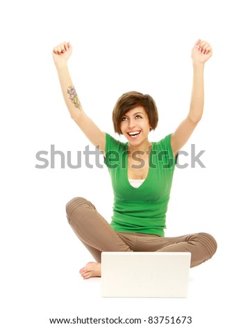 Woman work on laptop