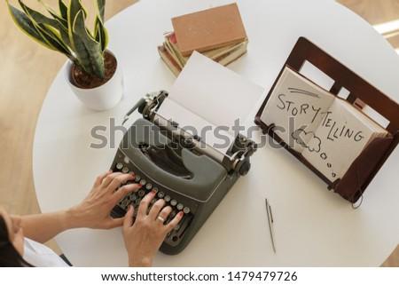 woman writer storytelling marketing online