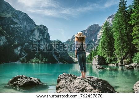 Woman  - Young girl exploring the nature