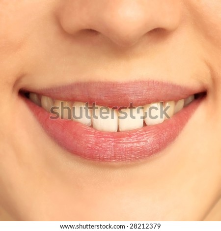 Womans lips without make-up