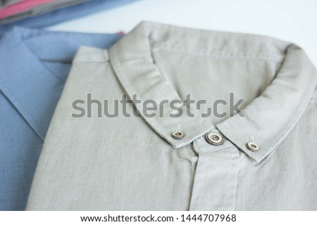 Women and men casual style shirt colour mix in white background #1444707968