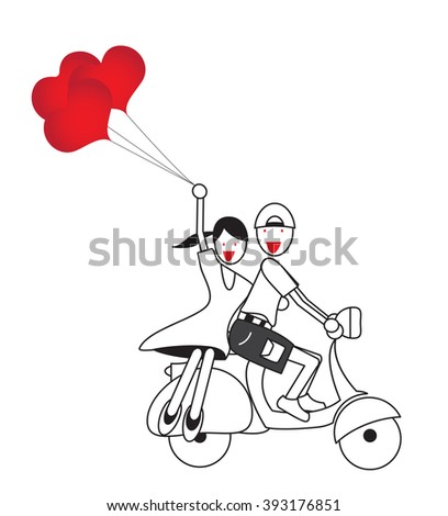 happy boy on motorcycle happy people riding horses wiring