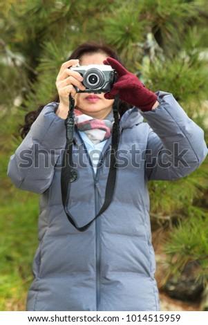 Women are taking photo,taking photo