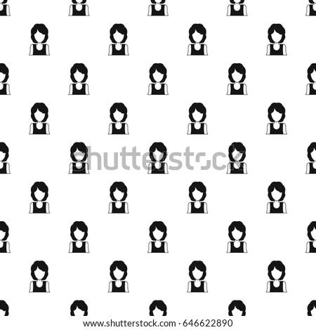 Women avatar pattern seamless in simple style  illustration #646622890