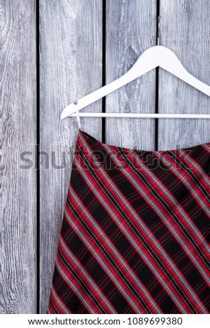 Women black and red striped skirt. Feminine classic design garment. Female garment on sale. #1089699380
