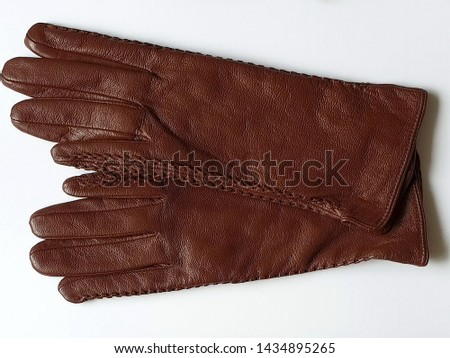 Women clothes accessories leather gloves