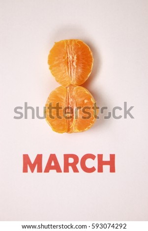 Women day, women's day, 8 march, eight march. Humor. Symbol, sign #593074292