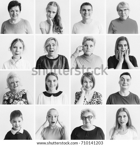 Women emotions collage #710141203