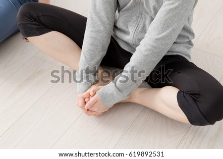 Women exercising, pelvic correction