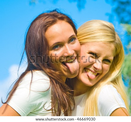 women fooling around