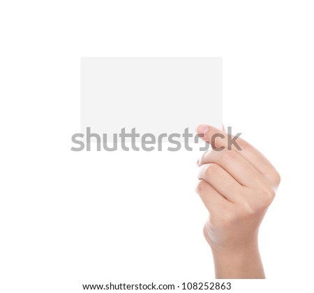 Woman Hand Holding Paper Women Hand Holding Blank Paper