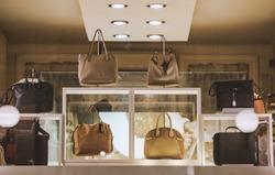 Women handbags in a store in Milan