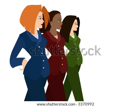 Women in Business Suits (Diversity)