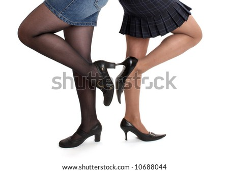 women in stiletto shoes