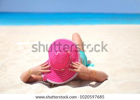 women on beach #1020597685