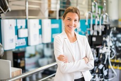 Women owning small business bath store. Female entrepreneur concept. Happy businesswoman portrait.