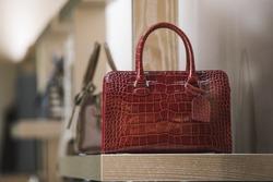Women purse in a fashion store