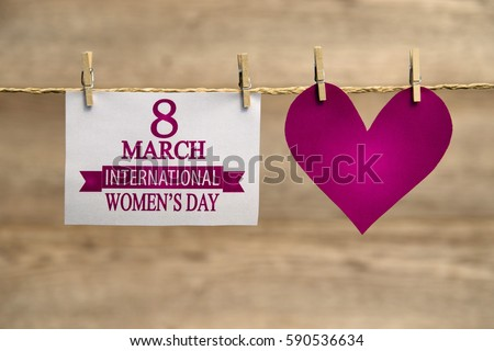 Women's day card or background.