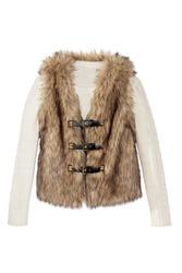 women's fur vest with sweater