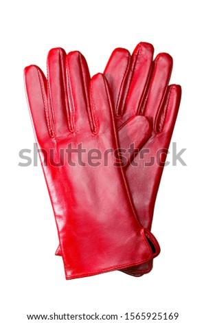 Women's gloves on white background Stock photo ©