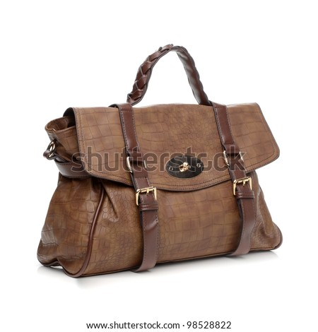 Women's handbag on white background