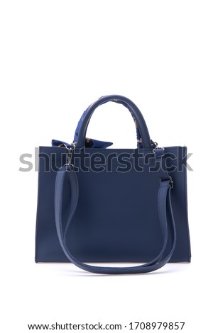 Women's leather bag on white scene ストックフォト ©