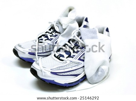 Socks And Shoes. running shoes and socks