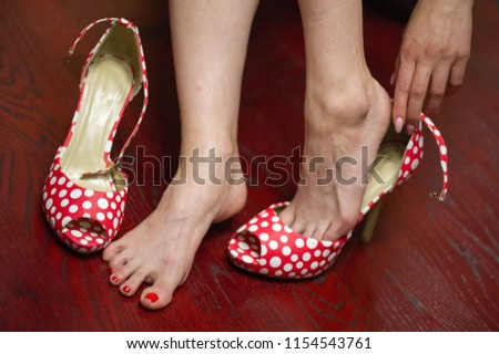 Women's shoes, a pair of shoes, high-heeled shoes, a pair of shoes,  #1154543761