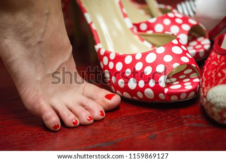 Women's shoes, a pair of shoes, high-heeled shoes, a pair of shoes #1159869127