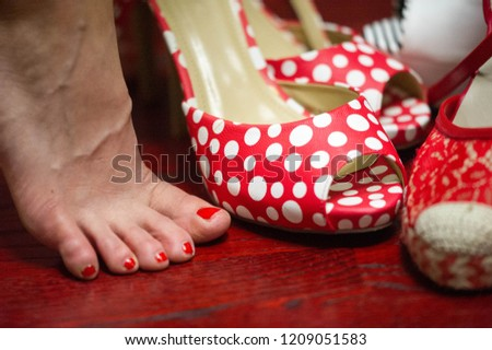 Women's shoes, a pair of shoes, high-heeled shoes, a pair of shoes, #1209051583