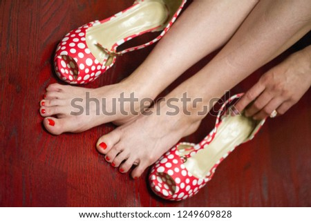 Women's shoes, a pair of shoes, high-heeled shoes, a pair of shoes, #1249609828