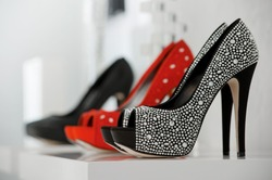 Women's shoes at the shop