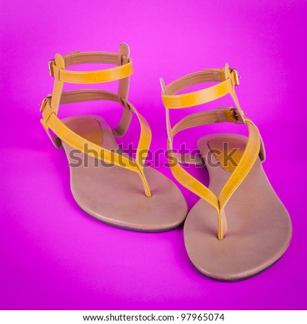 Women's shoes isolated on Pink background
