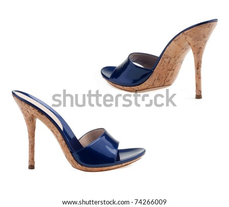 Women's shoes  on a white background.