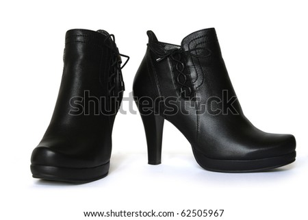 Women's stylish boots with lacing.