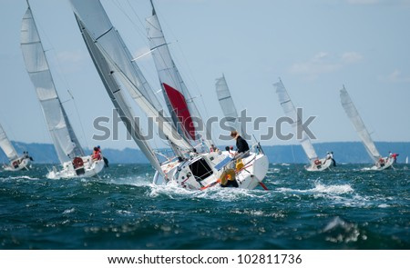 women sailing at regatta