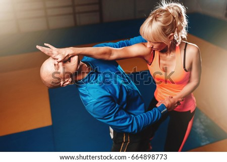 Women self defense technique, martial art