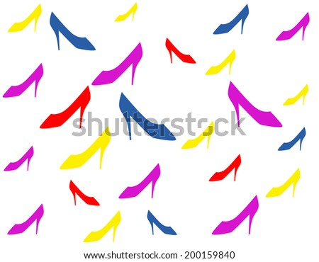 Women shoes background