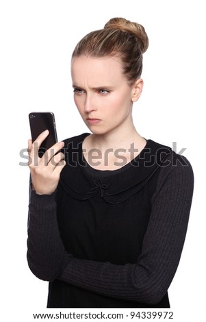 Women Smartphone Frustrated Stock Photo 94339972 : Shutterstock